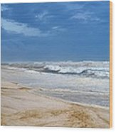 Hurricane Isaac Impacts Navarre Beach Wood Print