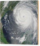 Hurricane Katrina Wood Print