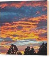 Hurricane Mountain Sunset 2 Wood Print