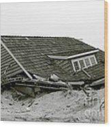 Hurricane - Sandy - Storm Wood Print
