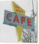 Hut Cafe Wood Print