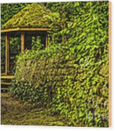 Hut In The Forest Wood Print