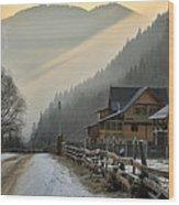 Hutsul Village Wood Print