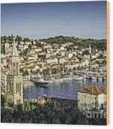 Hvar Overlook Wood Print