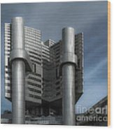 Hvb Building Wood Print