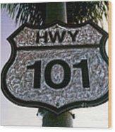 Hwy 101 Wood Print