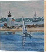 Hyannis Harbor Wood Print