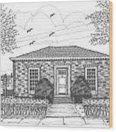 Hyde Park Public Library Wood Print