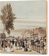 Hyde Park, Towards The Grosvenor Gate Wood Print
