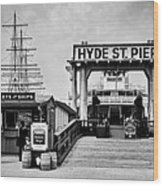 Hyde St. Pier Wood Print