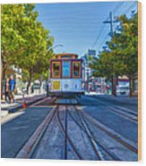 Hyde Street Trolley Wood Print