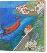 Hydra Island Wood Print