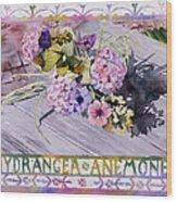 Hydrangea Anemones Wood Print
