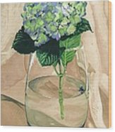 Hydrangea Blossom Wood Print