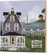 Hydrangea Cove Wood Print