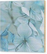Hydrangea Flowers Wood Print
