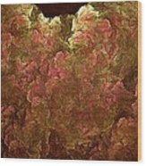 Hydrangea Fractal Blossoms Wood Print
