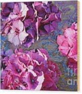 Hydrangea Mix Wood Print