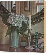 Hydrangea Still-life Wood Print