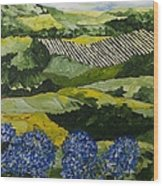 Hydrangea Valley Wood Print