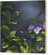 Hydrangea Violet-blue Wood Print