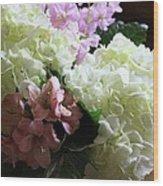 Hydrangeas Bouquet Wood Print