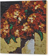 Hydrangeas II Wood Print by Vickie Warner