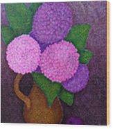 Hydrangeas Wood Print