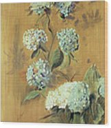 Hydrangeas Wood Print by Paul Cesar Helleu