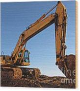 Hydraulic Excavator Wood Print