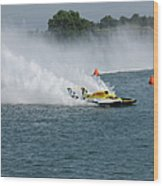 Hydroplane Gold Cup Race Wood Print by Michael Rucker