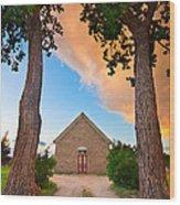 Hygiene Colorado Church Of The Brethren 1880 Sunset Wood Print