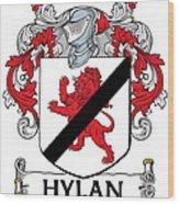 Hylan Coat Of Arms Irish Wood Print
