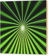 Hyperspace Electric Green Portrait Wood Print