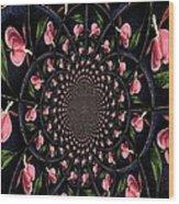 Hypnotic Hearts Wood Print