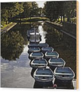 Hythe Military Canal Kent Wood Print by Lesley Rigg