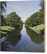 Hythe Military Canal Wood Print by Lesley Rigg
