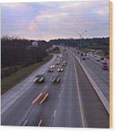 I-75 Knoxville At Dusk Wood Print