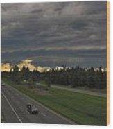 I-85 Shelf Cloud Wood Print