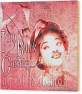 I Am Black And Comely Wood Print