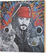 I Am Captain Jack Sparrow Wood Print