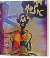I Am Music #1 Wood Print