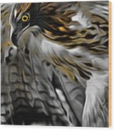 I Am Redtail Square Wood Print