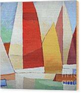 I Am Sailing Wood Print by Lutz Baar