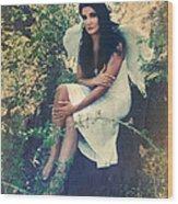 I Believe In Angels Wood Print
