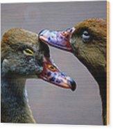 I Crown You Ducklet Wood Print by DerekTXFactor Creative