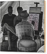 I Draw You Caricatures In Asheville Wood Print