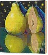 I Dream Of Pears Wood Print