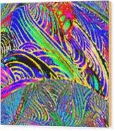 I Dreamed Of Neon Skies Wood Print