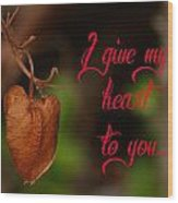I Give My Heart To You Wood Print by Old Pueblo Photography